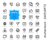 outline web icons set   contact ... | Shutterstock .eps vector #260518973