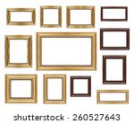group and set of golden vintage ... | Shutterstock . vector #260527643
