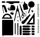 Stationery Tools Silhouettes...