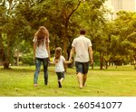 family walk in the park  happy... | Shutterstock . vector #260541077