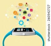 smart watch new technology... | Shutterstock .eps vector #260542727