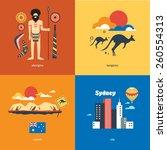 australia flat travel | Shutterstock .eps vector #260554313