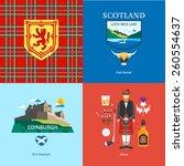 scotland flat travel | Shutterstock .eps vector #260554637
