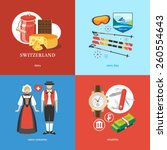 switzerland flat travel | Shutterstock .eps vector #260554643
