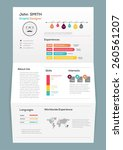 flat resume on brochure with... | Shutterstock .eps vector #260561207