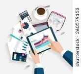 business workplace.flat design. | Shutterstock .eps vector #260579153