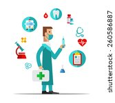 doctor  health care  medical... | Shutterstock .eps vector #260586887