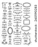 ornate frames and scroll... | Shutterstock .eps vector #260590283