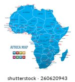 africa map with navigation icons | Shutterstock .eps vector #260620943