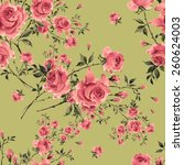 seamless pattern of  roses | Shutterstock . vector #260624003