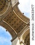 arc de triomphe  arch of...   Shutterstock . vector #260633477