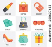 vector women shopping icons set....