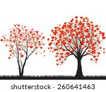 trees of love for your design | Shutterstock .eps vector #260641463