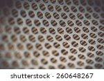 Close Up Metal Grid Of Car Air...