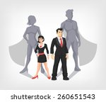 businessman and business woman... | Shutterstock .eps vector #260651543