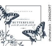vector card with butterflies... | Shutterstock .eps vector #260662097