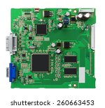 electronic circuit board with... | Shutterstock . vector #260663453