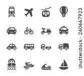 transportation and vehicle icon ... | Shutterstock .eps vector #260667923