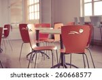 school cafeteria.high school... | Shutterstock . vector #260668577