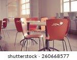 school cafeteria.high school... | Shutterstock . vector #260668577
