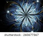 Dark Fractal Flower With...