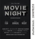 vintage movie or retro cinema... | Shutterstock .eps vector #260698253