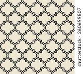 quatrefoil pattern  decorative...   Shutterstock .eps vector #260699807