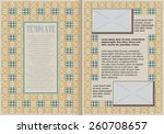 template booklet in vintage... | Shutterstock .eps vector #260708657