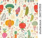 fabulous vegetable background... | Shutterstock .eps vector #260724503