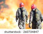 firemen with full structural... | Shutterstock . vector #260734847