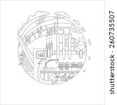 round vector illustration on... | Shutterstock .eps vector #260735507