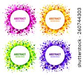 Set Of Bright Abstract Circles...