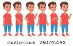 cartoon style boy wearing jeans ... | Shutterstock .eps vector #260745593