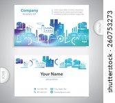 abstract industrial building  ... | Shutterstock .eps vector #260753273