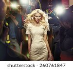 stunning blonde beauty and... | Shutterstock . vector #260761847