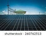 solar cell  the energy from the ... | Shutterstock . vector #260762513