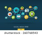 social media network. growth... | Shutterstock .eps vector #260768543
