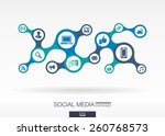 social media. growth abstract... | Shutterstock .eps vector #260768573