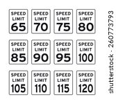 speed limit signs | Shutterstock .eps vector #260773793