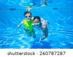 Underwater Happy Cute Girl And...