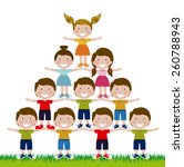 kids and children design ... | Shutterstock .eps vector #260788943