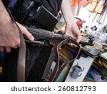 mp38 in the hands of a master... | Shutterstock . vector #260812793