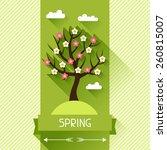 seasonal illustration with... | Shutterstock .eps vector #260815007