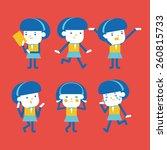 character illustration design.... | Shutterstock .eps vector #260815733