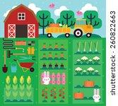 vegetable farm | Shutterstock .eps vector #260822663
