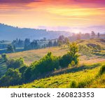 colorful summer sunrise in the... | Shutterstock . vector #260823353