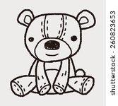 doodle teddy | Shutterstock .eps vector #260823653