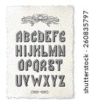 vector font  alphabet  vector | Shutterstock .eps vector #260835797