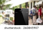 close up smart phone against... | Shutterstock . vector #260845907