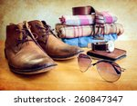 still life with casual man on... | Shutterstock . vector #260847347